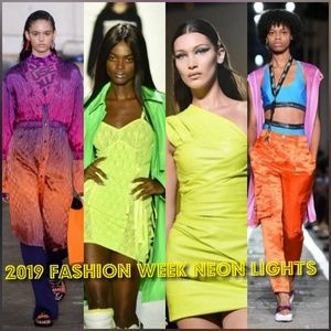 Other - 2019 Spring/Summer Runway Neon On Trend Prom Dress
